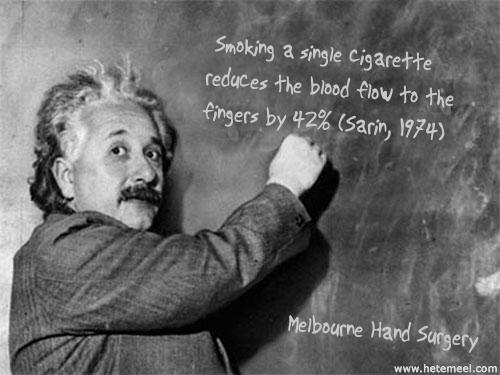 smokingreducesbloodflow42percenteinstein